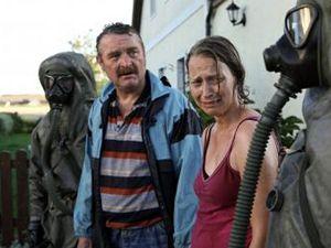 Záběr z rakouského snímku První den, kde nechali Rakušané bouchnout českou jadernou elektrárnu Dukovany